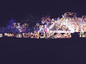 This is one man's house in Melksham, Wiltshire! He does it for charity :)