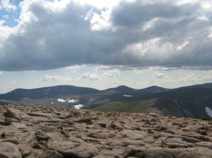View after 'wandering' up Cairngorm