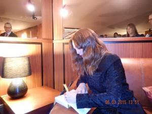 Julianne signing MY Still Alice book!