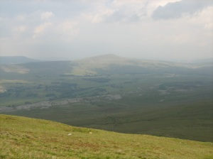 View after climbing 3 peaks in Yorkshire