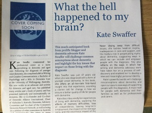 Kate's book is due out later this year - great title!