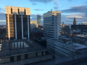 Nice view of Manchester from my room