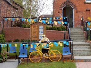 The viallage of Walkington goes all out to welcome the Tour de Yorkshire - fab day:)