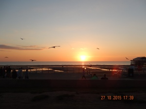 Sunset in Blackpool