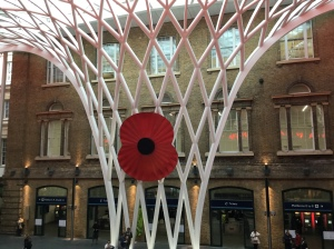 Great Giant Poppy at Kings Cross!