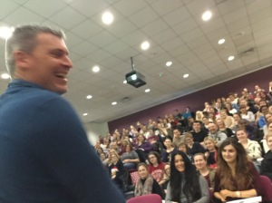 Me taking a sneaky photo of Rob when he was warning students not to use mobile phones....🙄