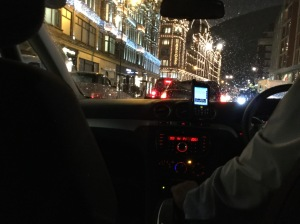Harrods through the taxi window!