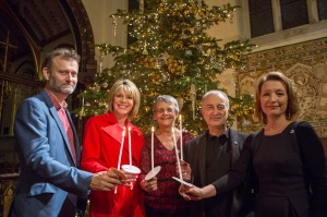 Celebrities and ambassadors Hugh Dennis, Ruth Langsford, me, Sir Tony Robinson and Lesley Manville OBE.