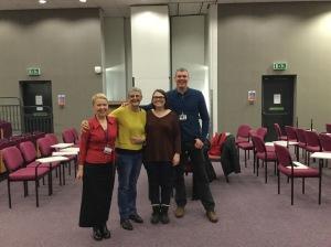 Helen Roberts. me, Sarah and Rob Allison.