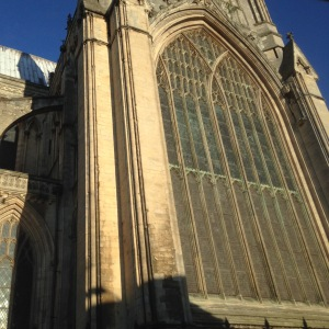 Beverley Minster looked very grand in the early morning sunshine.....