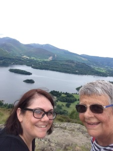 Our main aim was to climb Walla Crag, which has my favourite view of all - use to take me 2-3hrs - now takes 5.....😥 Wobbled all the way up and all the way down - but we did it - me and my lovely daughter Sarah....