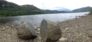 Amazing stones on the lakeside at Friars Cragg