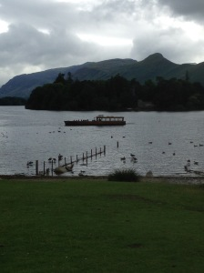The lovely Derwentwater LAke with Cats Bell in the background...