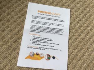 A flyer for Positive Assets...