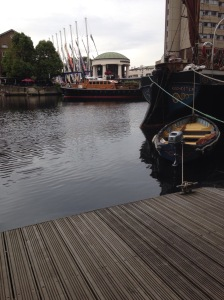 St Katherine's Dock looked lovely....