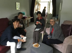 From left to right - Tomo, his doctor, the interpreter and me....